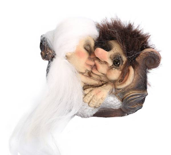 Bilde av Troll kysser havfrue (Troll nr. 153)