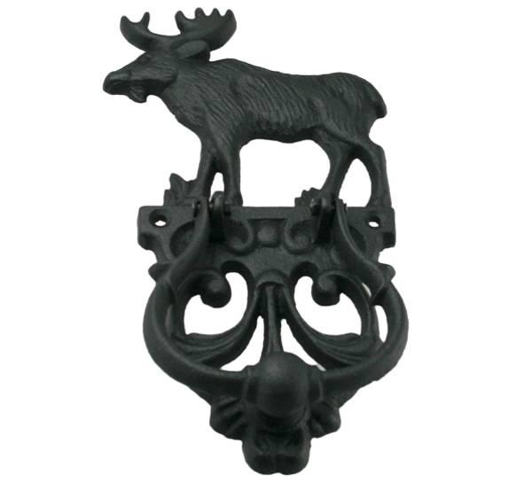 Bilde av Dørbanker med elg, støpejern