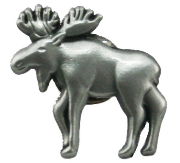 Bilde av Pin med elg Tinnfarget