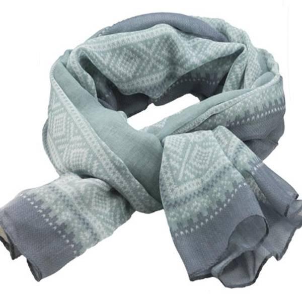 Image of Marius® scarf, light grey/white/light green
