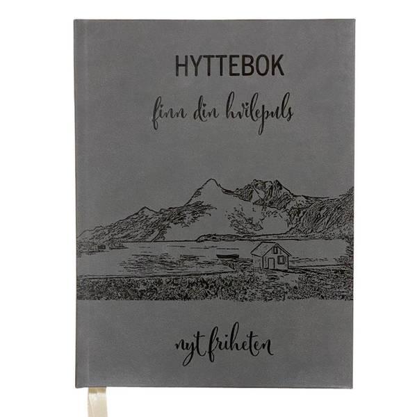 Image of Hyttebok grå, nyt friheten, A4