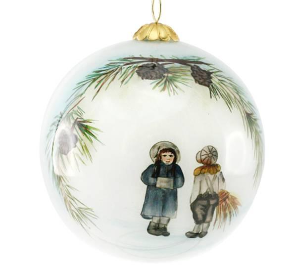 Bilde av Julekule,håndmalt, Vinterbarn