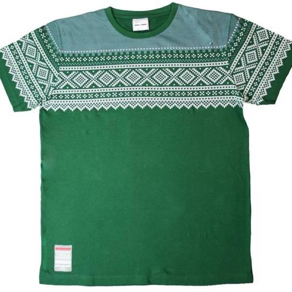 Bilde av T-skjorte med Mariusmønster, grønn