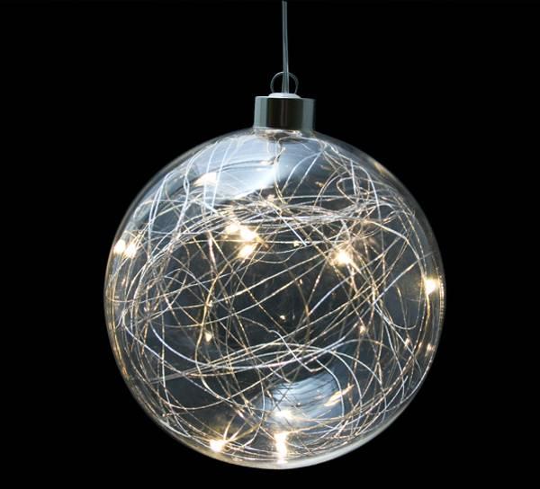 Bilde av Julekule med LED lys, stor