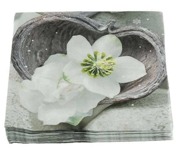Bilde av Servietter, hvit julerose