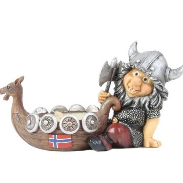 Bilde av Viking telysholder Norskt flagg
