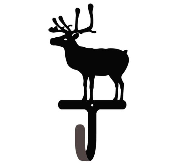 Bilde av Knagg med reinsdyr, sort