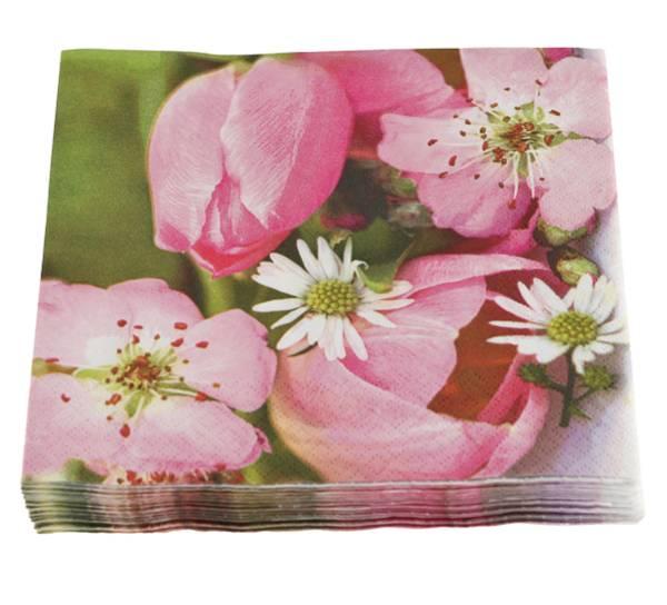 Bilde av Servietter, rosa blomster