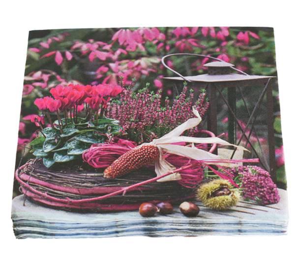 Bilde av Servietter, rød høst