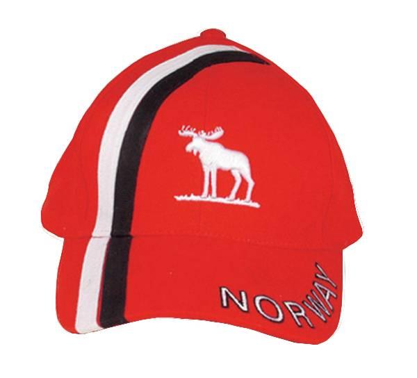 Bilde av Caps rød med brodert elg Norway