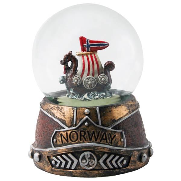 Bilde av Vikingskip i glasskule
