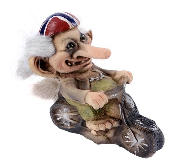 Bilde av Troll med motorsykkel, norsk bandana. (Troll nr.