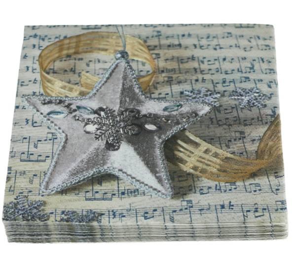 Bilde av Servietter, sølvstjerne