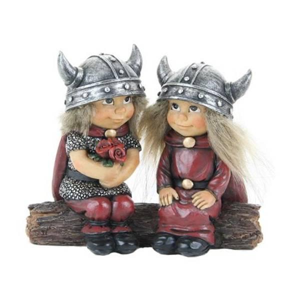 Bilde av Vikingebarn på trestamme