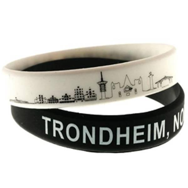 Bilde av Armbånd Trondheim,  sort, hvit *Sett à 2*