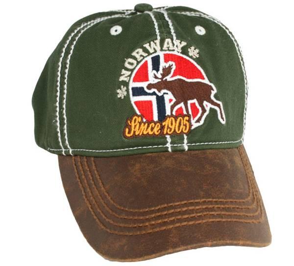 Bilde av Caps, grønn, flagg og elg