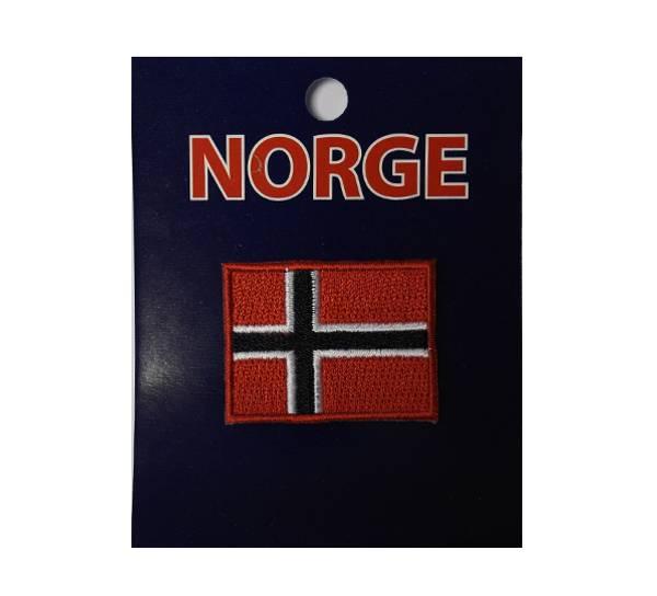 Bilde av Brodert merke 4x3cm., norsk flagg