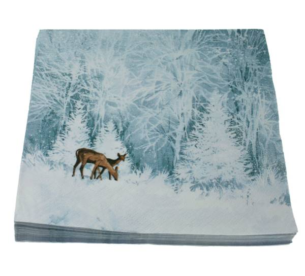 Bilde av Servietter Rådyr i vinterland