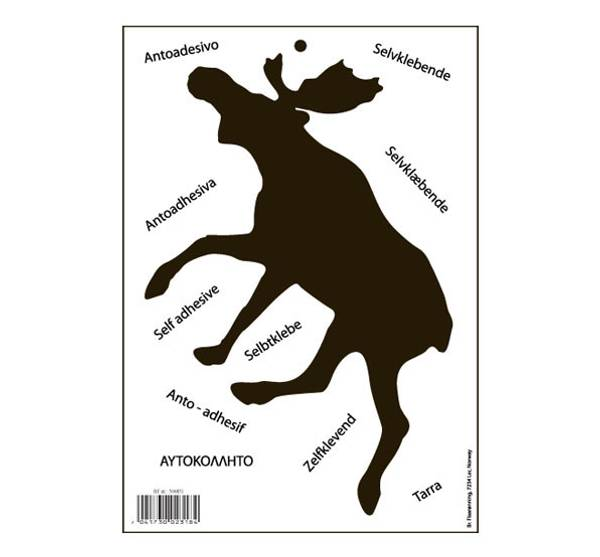 Bilde av Klistremerke, elg, silhuett, sort, stor