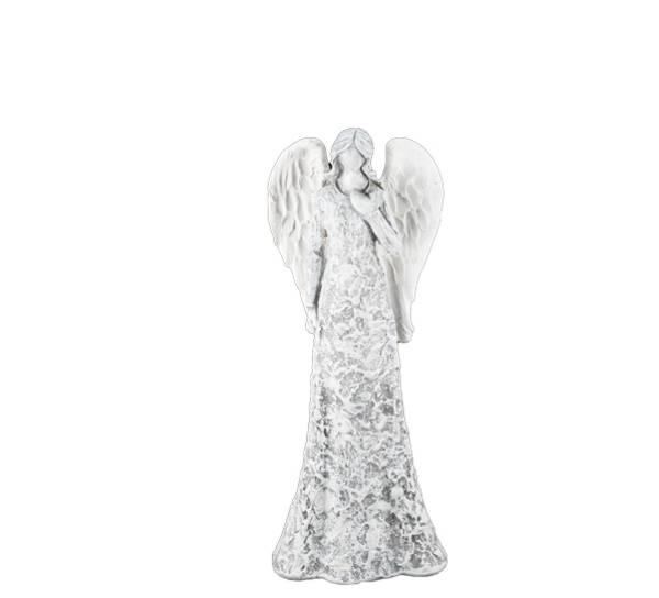Bilde av Engel som tenker, grå-hvit
