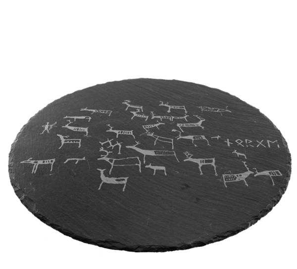 Bilde av Skifer rundtfat med runer