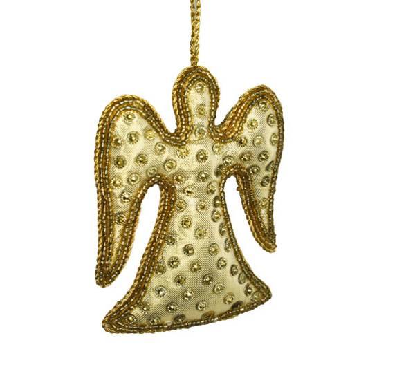 Bilde av Tøyengel i gull, for oppheng