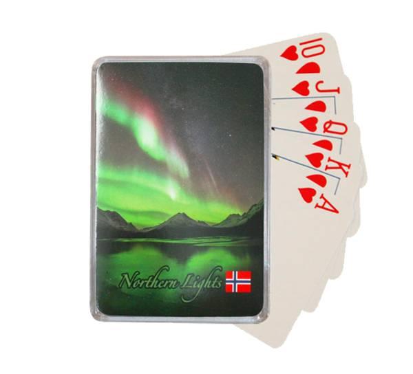 Bilde av Kortstokk med nordlysmotiv
