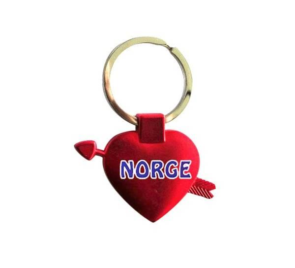 Bilde av Nøkkelring, hjerte Norge
