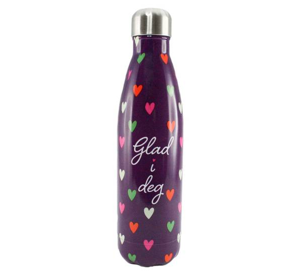 Bilde av Termoflaske, lilla, glad i deg