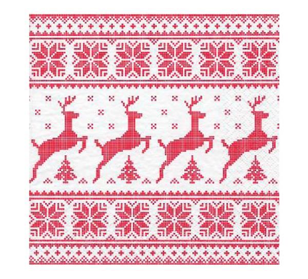 Bilde av Servietter, røde hjorter
