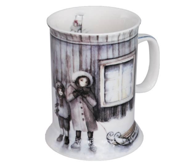 Bilde av Vinterbarn Krus, Barn med kjelke