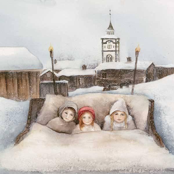Bilde av Vinterbarn Krus, Barn i kanefart