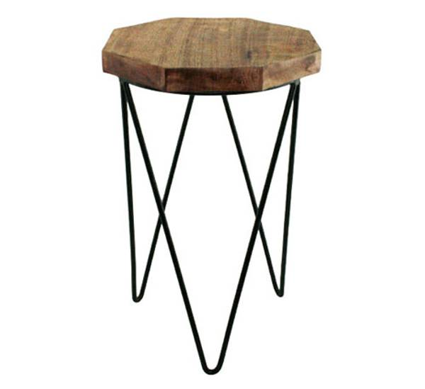 Bilde av Lite trebord med jernbein