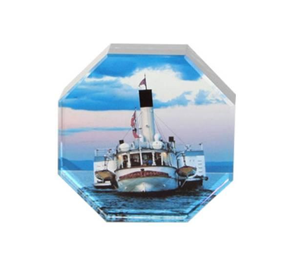 Bilde av Glassblokk, Skibladner, åtte kantet