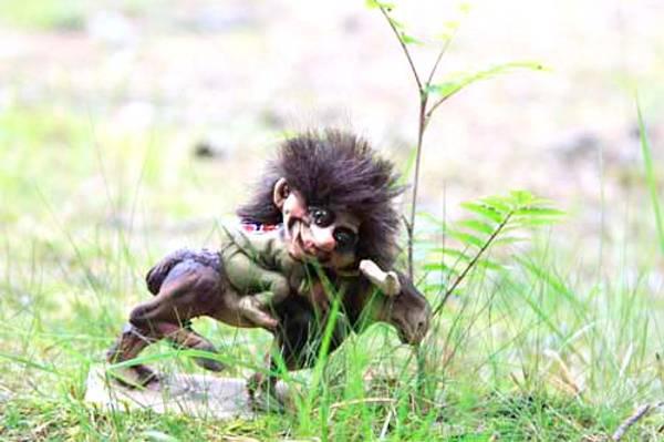 Bilde av Troll rytter på elg  (Troll nr. 045)