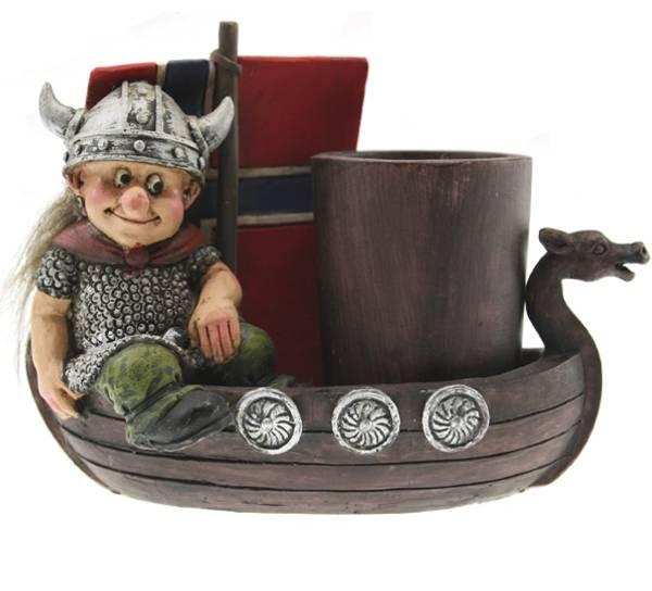 Bilde av Viking i båt med tannpirkerholder