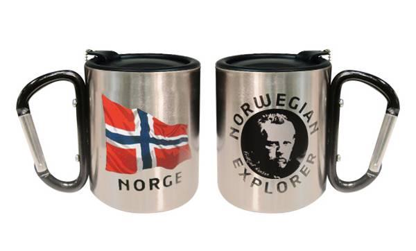 Bilde av Termokopp med lokk, flagg og Nansen, sort