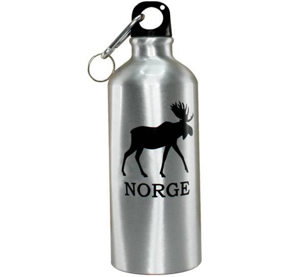 Bilde av Drikkeflaske m/karabinkrok, elg