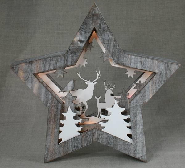 Bilde av Stjerne med hjort, liten, Ledlys