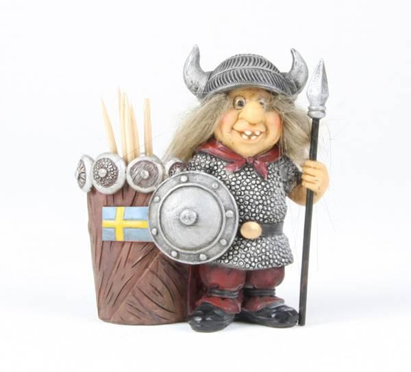 Bilde av Vikinger med tannpirker Svenskt flagg
