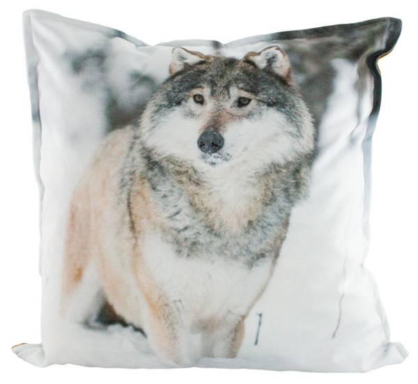 Bilde av Velourpute med fyll, ulv, `Blikk i naturen`