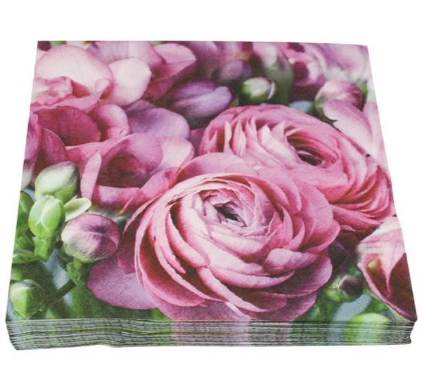 Bilde av Servietter rosa fresia
