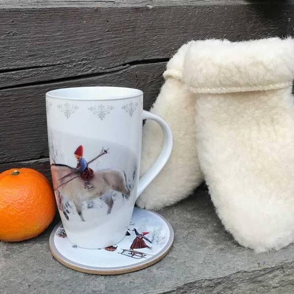 Bilde av Krus, Anja rir på fjordingen- Juledrømmen nr. 3