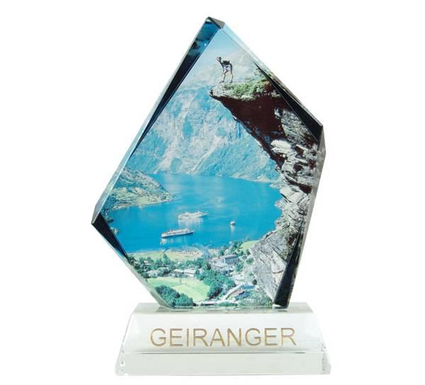 Bilde av Glassblokk, Geiranger, stor, Flydalsdjuvet, med