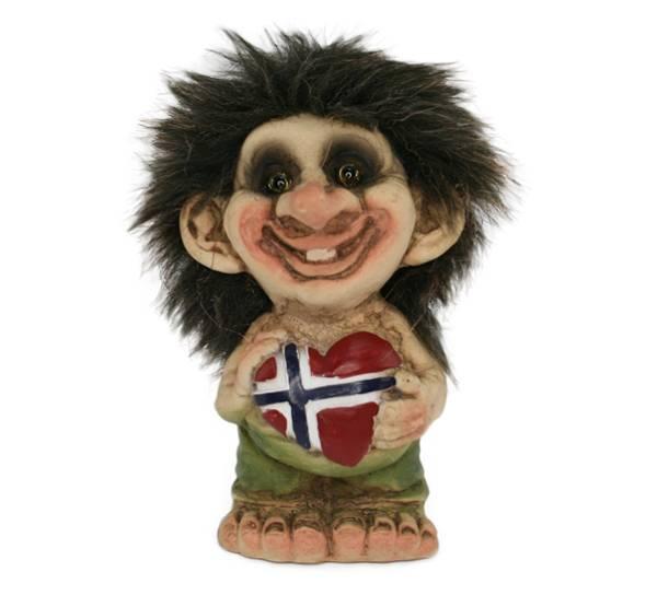 Bilde av Troll med flagghjerte  (Troll nr. 164)