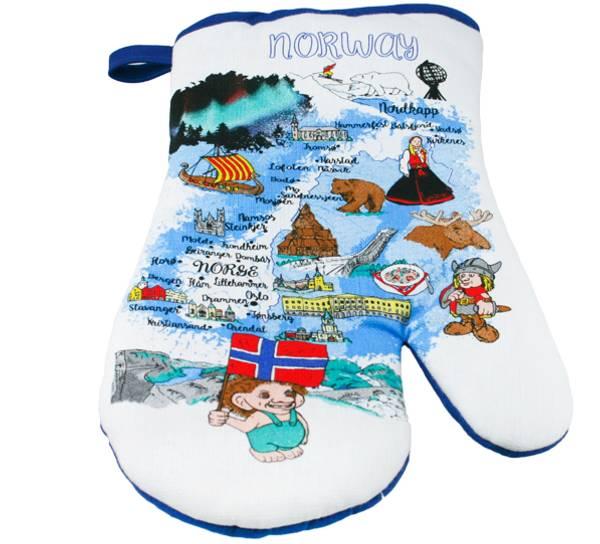 Bilde av Grillvott med Norgeskart