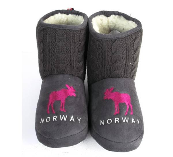 Bilde av Tøffel Norway grå-rosa