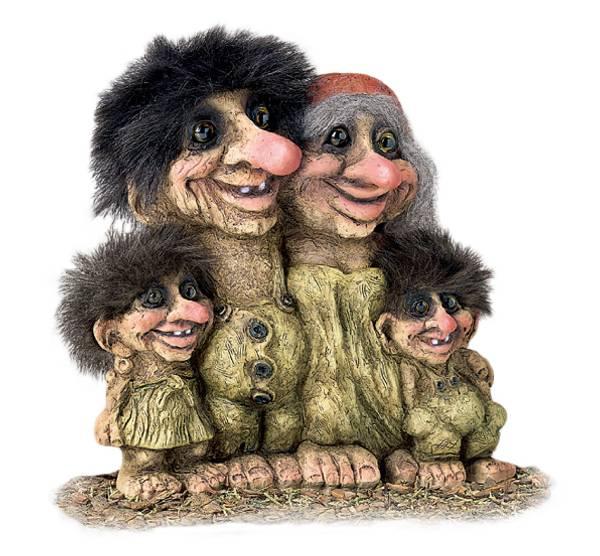Bilde av Trollfamilie  (Troll nr. 268)