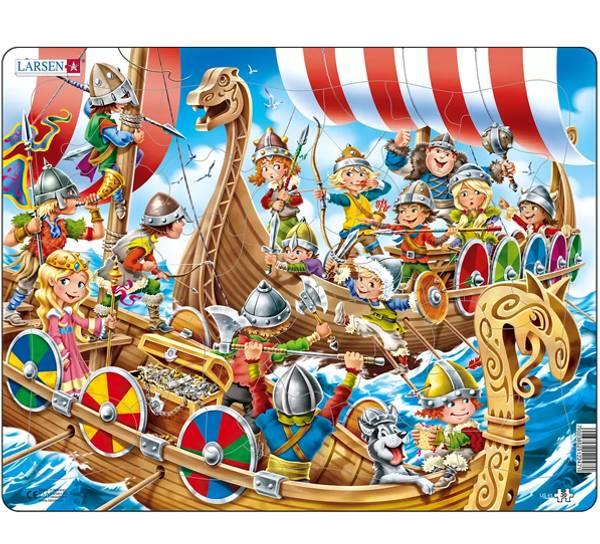 Bilde av Puslespill  Vikinger 30 brikker