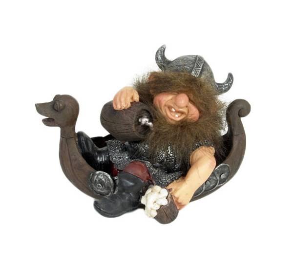 Bilde av Figur viking i båt stor